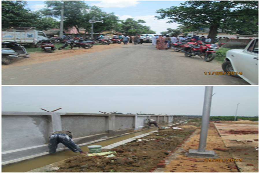 Construction of cement concrete road and drainage system at Molandighi village under Molandighi G.P. within Kanksa Block