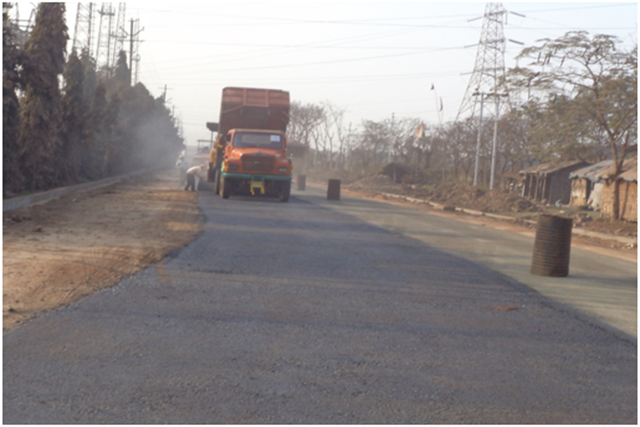 Improvement of road and drainage system from the gate of Ultratech Cement factory upto EPIP main road at Durgapur
