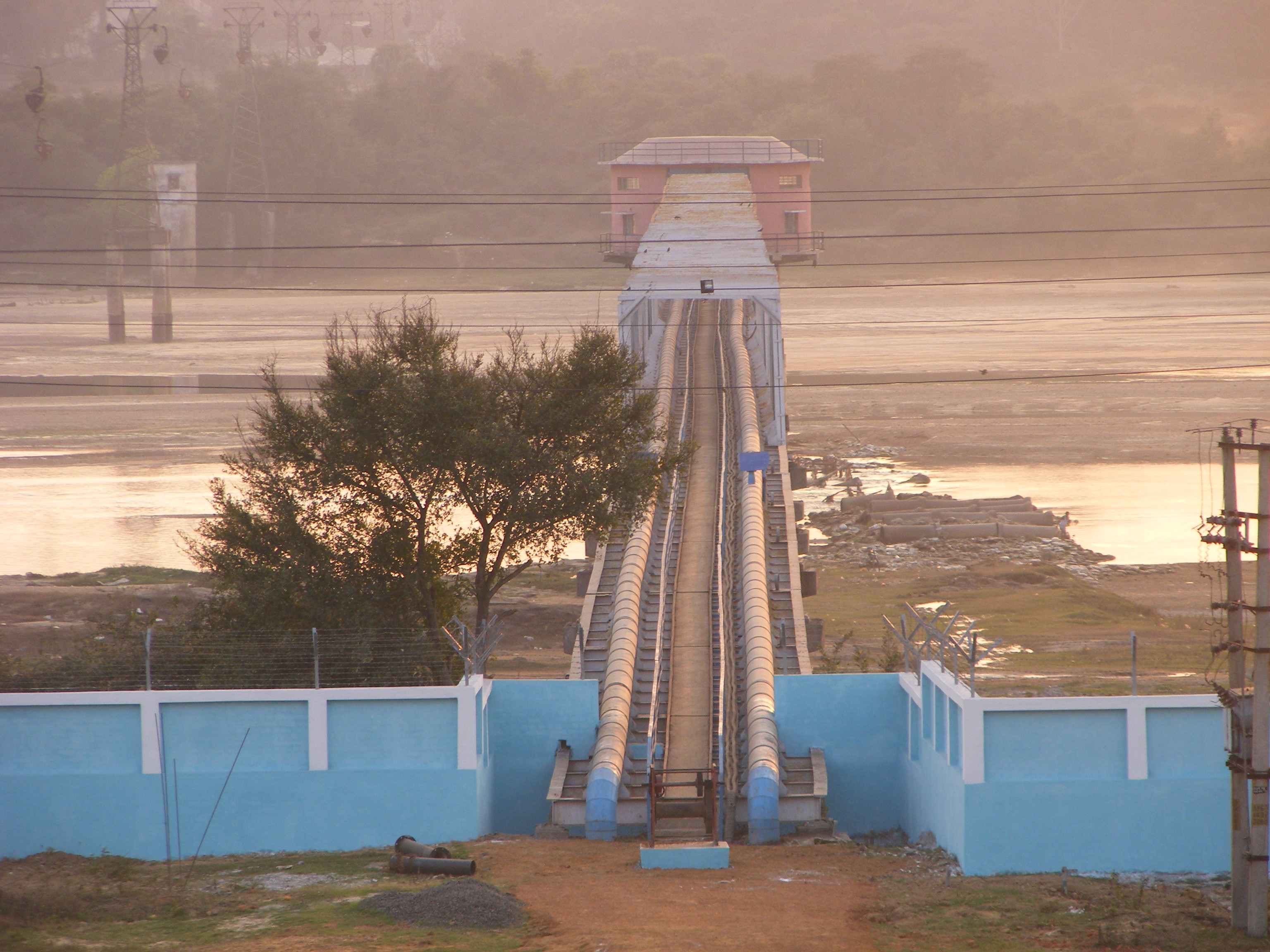 Carrier Bridge for Intake Well at 10 MGD Water Supply Project, Asansol